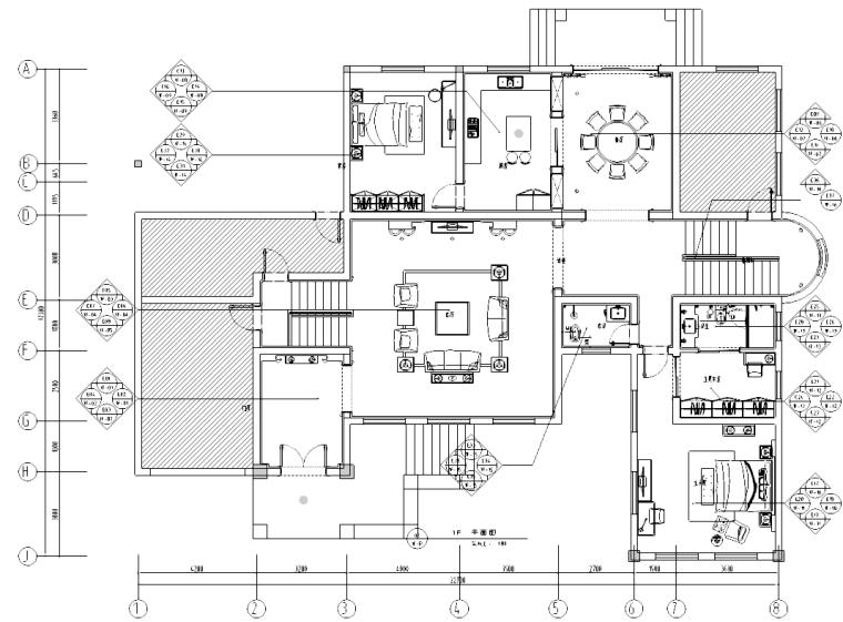 [云南]西山某欧式别墅施工图及效果图