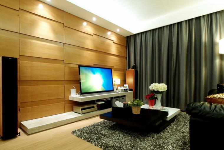 105平时尚极致书房室内设计实景图