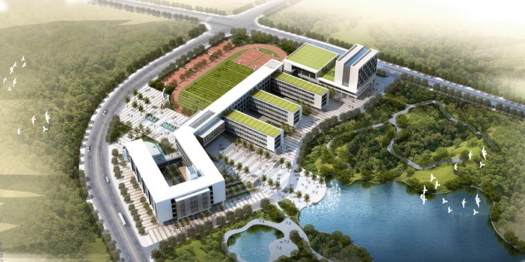 [广东]光明新区外国语学校建筑设计方案文本