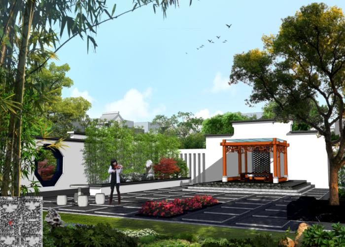 [河北]江南水乡中式居住区景观规划设计方案