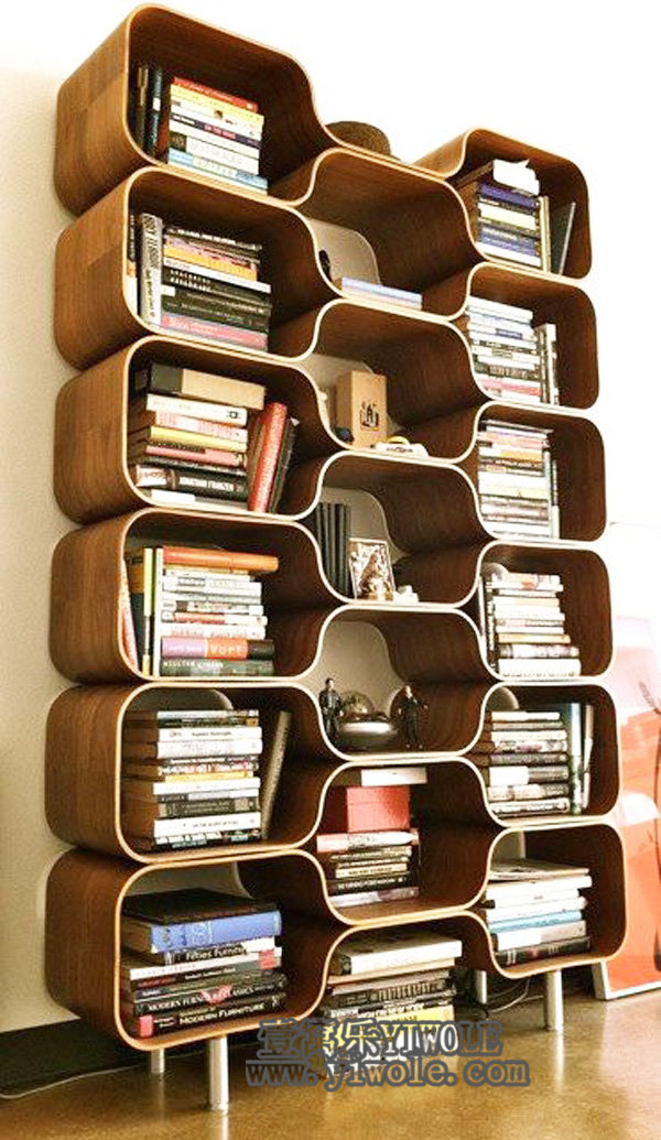 """创意书架中的""""人生百态""""书架设计中的典范"""