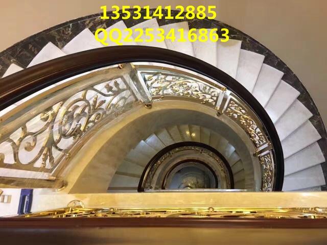 铝板雕花楼梯护栏打造豪华世界