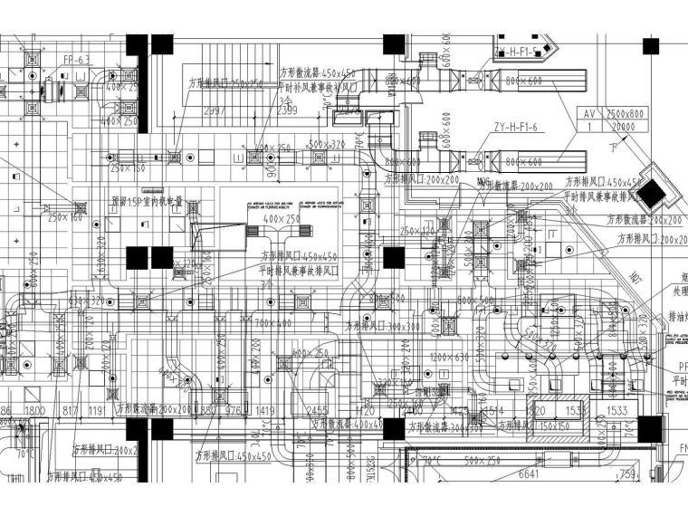 [天津]鲁能希尔顿高级酒店2017年最新暖通全套设计图纸(空调和通风)