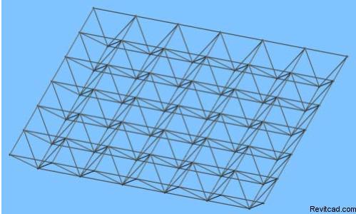 revit-体量结构建模-空间网架结构建模
