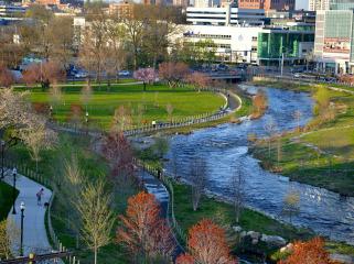 弥尔河公园和绿色廊道景观