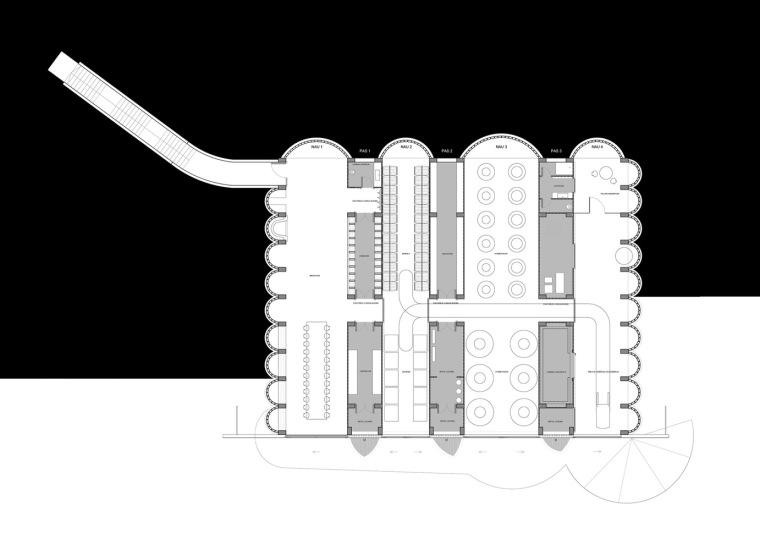 西班牙双曲线拱门形式Mont-Ras酒庄平面图 (7)
