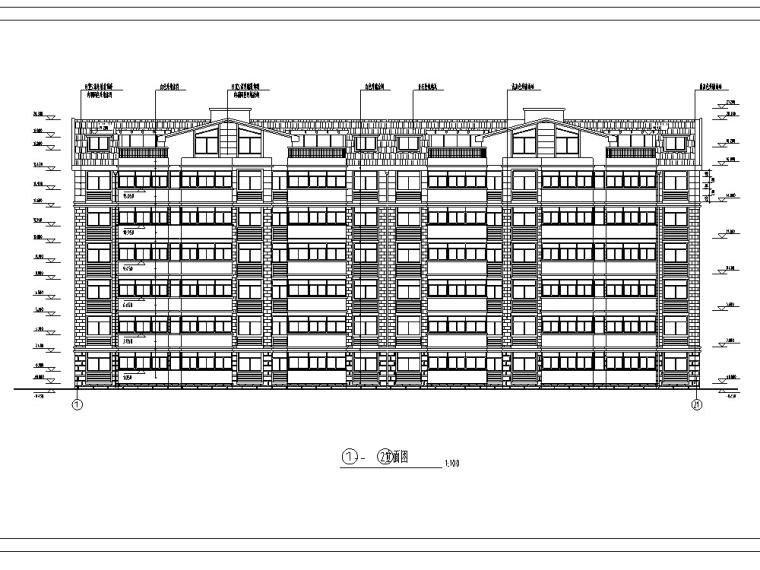 国贸一期14号欧式多层居住建筑设计施工图CAD