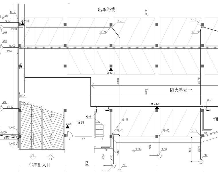 某七层停车库给排水和消防图纸_2