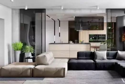 时尚的开放概念室内设计灵感!