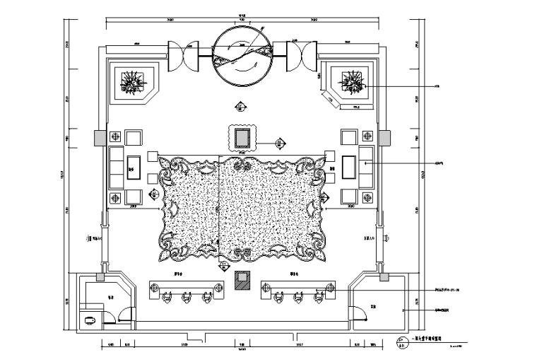 水立方水疗会所设计整套施工图(附效果图+材料表)