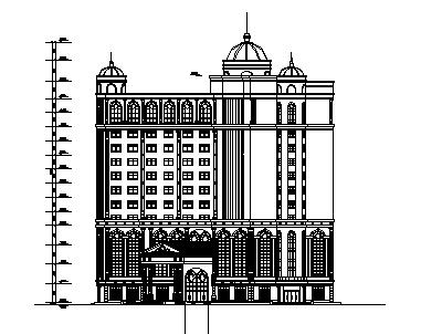 高层欧式风格大型酒店建筑施工图