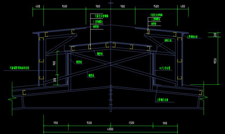 宁德鹏康电机有限公司钢结构厂房CAD