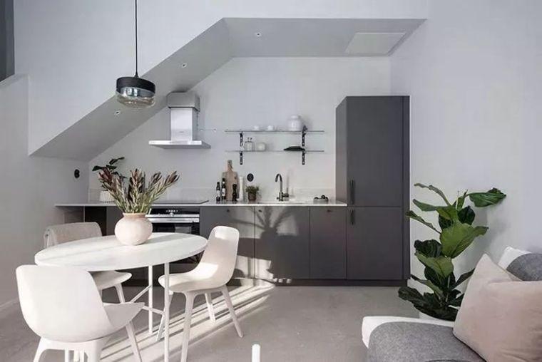 46平loft北欧风单身公寓,通透开阔,随性简约!