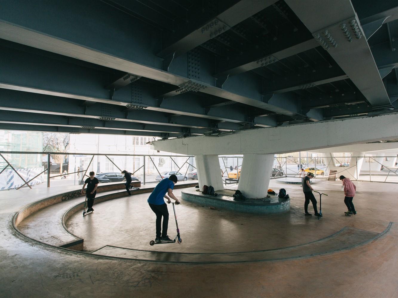 克雷姆斯基大桥的滑板公园