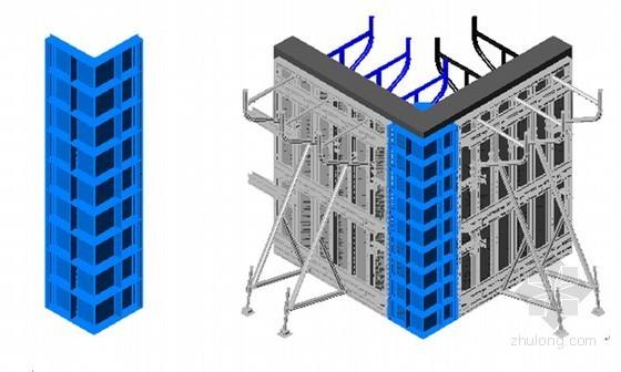 [陕西]剪力墙结构教学楼工程大钢模板专项施工方案(29页 附三位节点图)