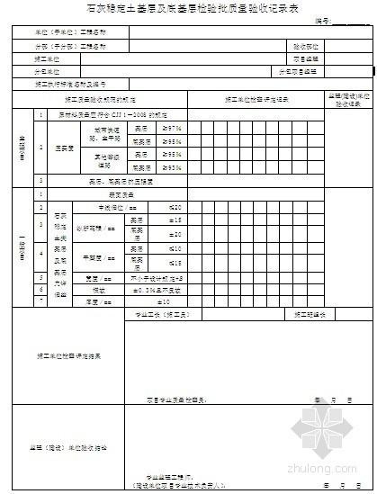 [浙江]市政工程新规范检验批质量验收记录表(全套)
