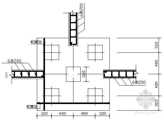 某基础工程预制方桩及承台结构设计图