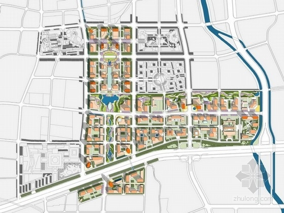 [济南]多元一体化城市CBD景观带规划设计方案
