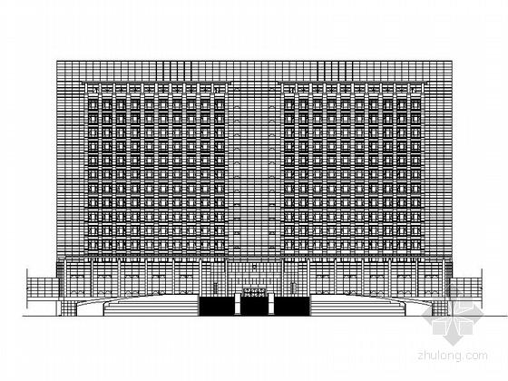 [江苏]现代高层幕墙市委行政办公楼建筑施工图(知名设计院)