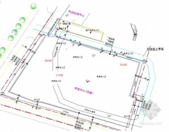 [江西]土钉墙加微型钢管桩深基坑支护施工方案(附CAD图 专家论证)