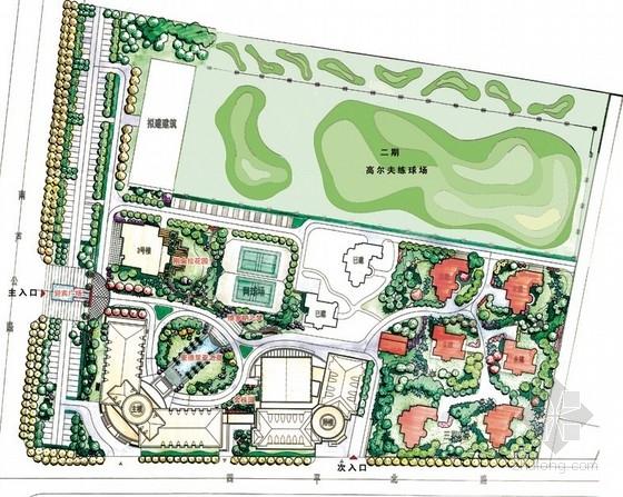 公共空间景观设计手绘效果图