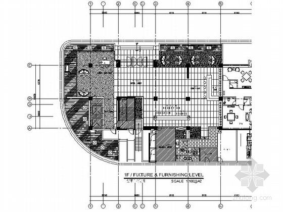 [福建]混凝土工业感十足酒店大堂施工图(含效果图)