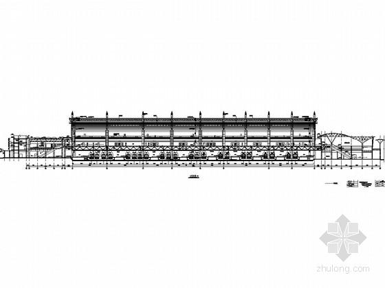 火车站高架站房及雨棚施工图纸