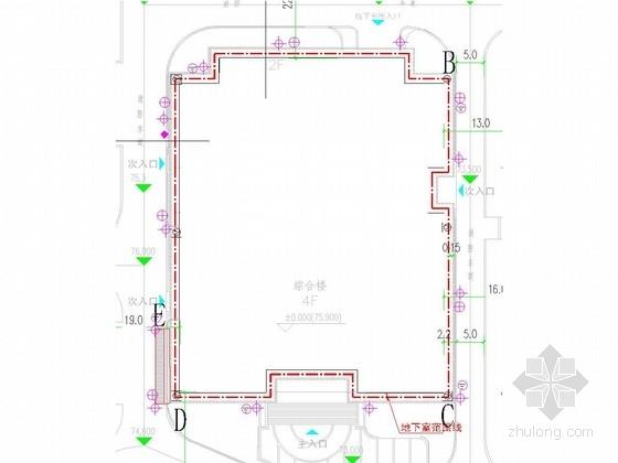 [浙江]基坑自然放坡土开挖支护施工图