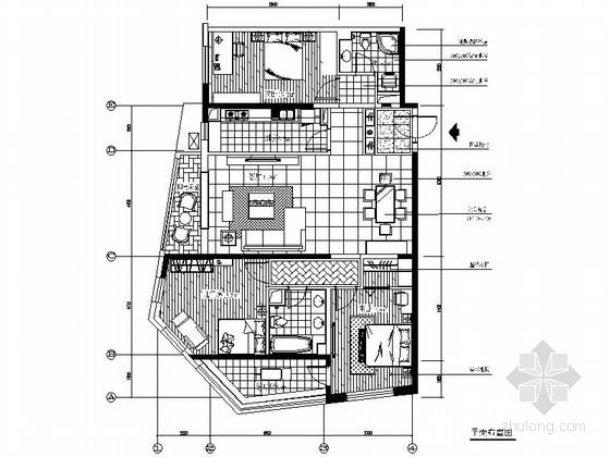 [北京]朝阳区温馨现代三居室样板间装修施工图(含效果)