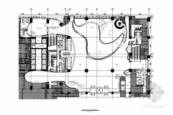 [深圳]商业中心交通便利五星级商务酒店大堂施工图