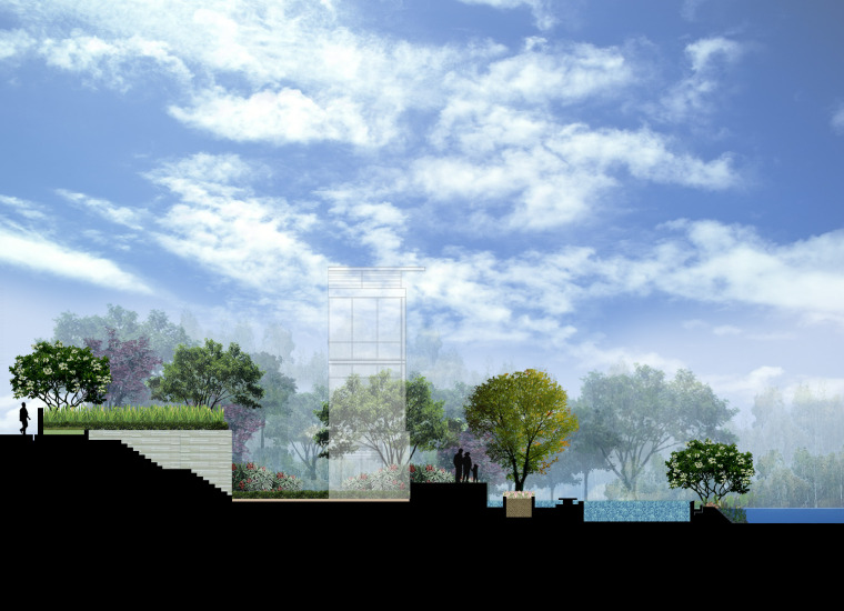 AECOM剖面素材-园林景观PSD分层01