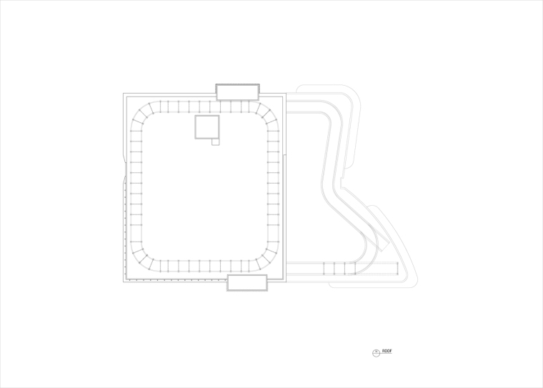 九转回环、流畅现代的车展大厅及办公楼设计_17