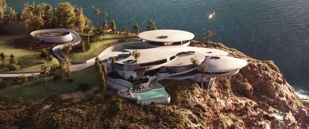 富人的快乐,未来感十足的现代住宅设计