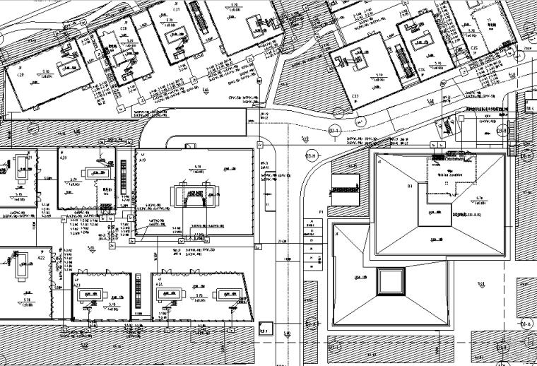 上海多层办公楼强弱电电气施工图(含变电所)[中船设计院]
