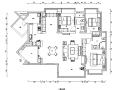锦瑟|新中式美式混搭风样板间设计施工图(附效果图)