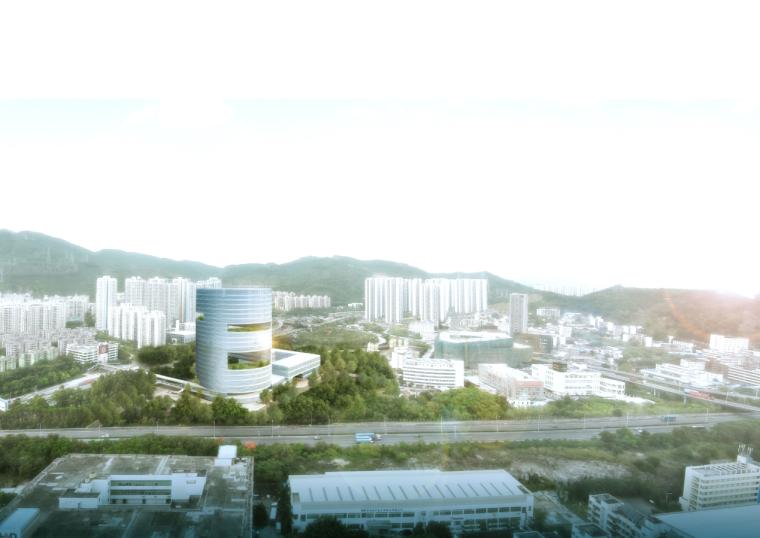 [深圳]高层现代风格圆柱状中心研发大楼建筑设计方案文本