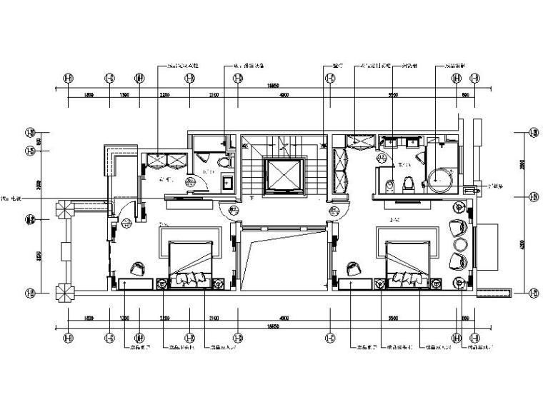 [张家港市]新中式禅意风格住宅样板房设计施工图(含效果图)