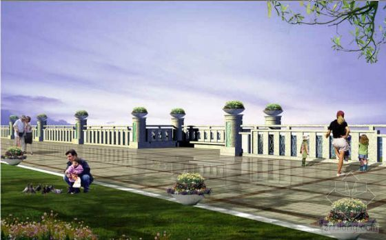 某市河岸、河涌两岸栏杆设计方案