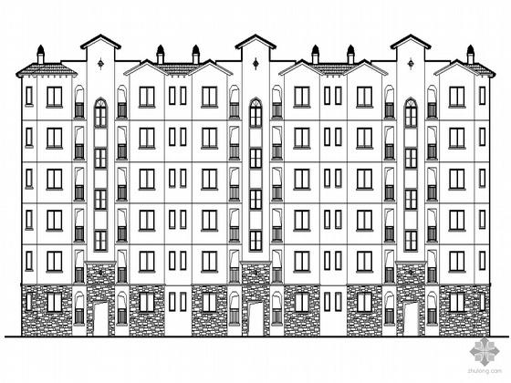 [长沙]某现代高层住宅区A区三期B标段住宅楼施工套图