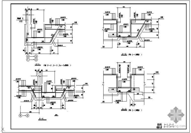 某集水坑剖面节点构造详图