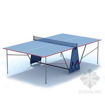 vray材质球素材资料下载-乒乓球桌002