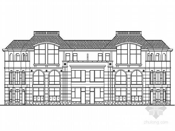 [江西]某三层四联排别墅建筑施工图