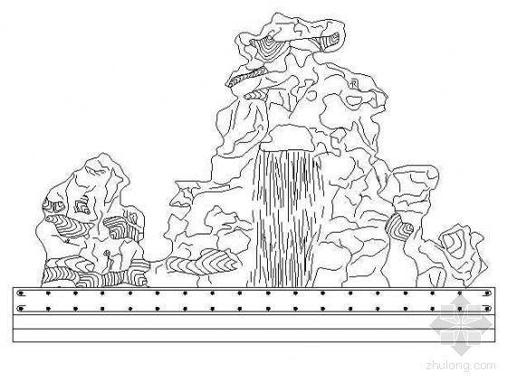 某假山流水设计大样图