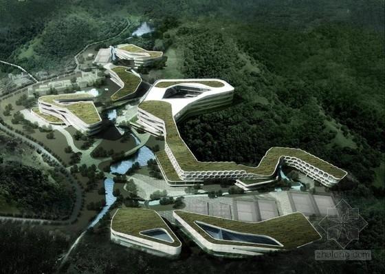 [深圳]双层表皮外墙生态式研究办公楼建筑设计方案文本