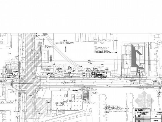 [上海]地铁双柱三跨现浇箱型结构地下三层岛式站台车站主体及附属结构图纸249张