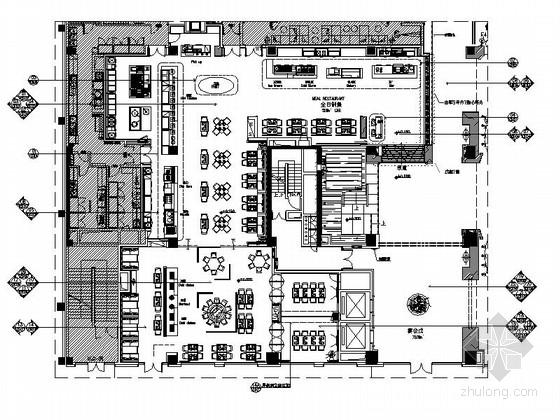[湖北]五星级品牌假日酒店餐厅装修CAD施工图(含效果)