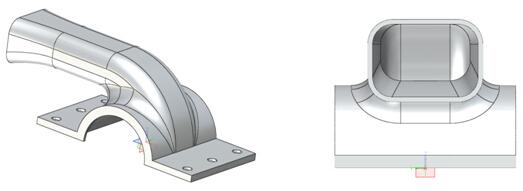 使用中望3D设计排气管