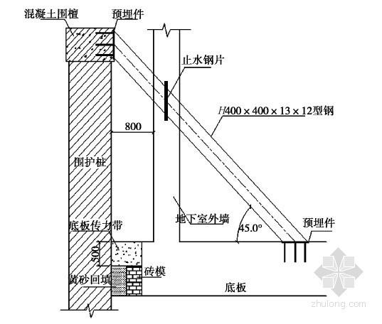 软土地区深基坑工程控制拆撑变形的换撑设计