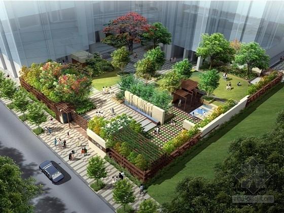 [广东]临商业街花园式休闲庭院景观设计方案