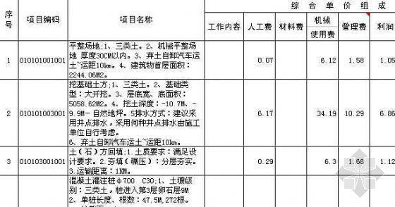 [浙江]某16层框架结构办公楼工程清单报价